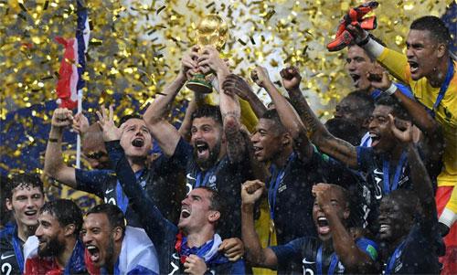 Pháp lên số một, Đức rớt xuống vị trí 15 trên bảng FIFA
