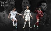 Ronaldo, Modric, Salah vào ba đề cử Cầu thủ hay nhất châu Âu