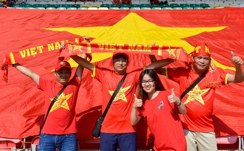 Người hâm mô Việt Nam sẽ tiếp lửa tuyển Olympic trên sân vận độngPatriot Candrabhaga.