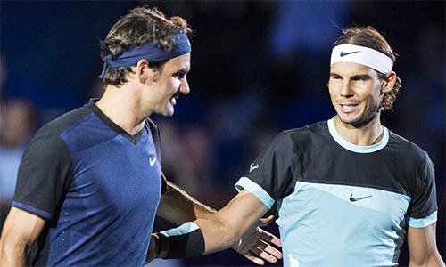 Federer hứa hẹn là thách thức lớn nhất của Nadal trong chiến dịch bảo vệ danh hiệu Mỹ Mở rộng năm nay. Ảnh: USA Today.