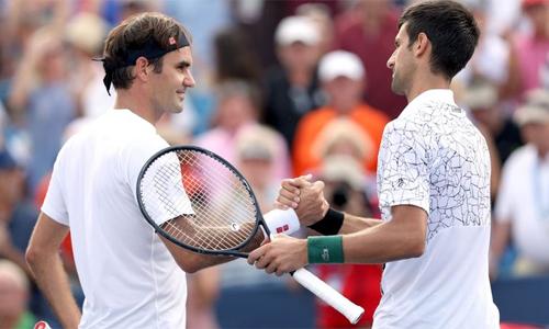 Federer không may khi nằm cùng nhánh Novak Djokovic, tay vợt đang có phong độ rất cao ở thời điểm hiện tại. Ảnh: Sky Sports.