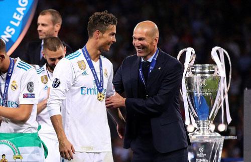 Zidane chứng tỏ năng lực khi quản lý những ngôi sao lớn nhất thế giới. Ảnh:AFP.