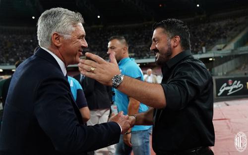 Ancelotti lần đầu tiên đối đầuGattuso, học trò cũ từng là trụ cột của Milan thời ông còn dẫn dắt CLB này.