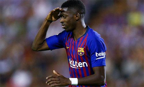 Tiền đạo trẻ Dembele lại ghi bàn quyết định cho Barca.