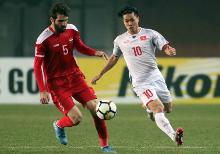 Việt Nam hòa 0-0 với Syria tại giải U23 châu Á vào tháng 1/2018. Ảnh:Anh Khoa.
