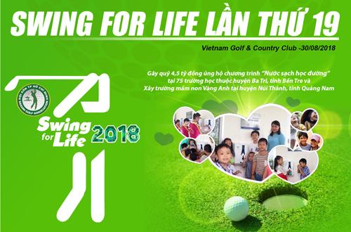 Giải golf từ thiện Swing for Life dự kiến quyên góp 4,5 tỷ đồng