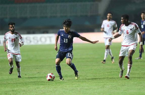 Nhật Bản trên cơ so với UAE. Ảnh: Đức Đồng