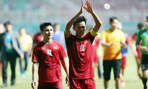 Cầu thủ Việt Nam buồn bã sau thất bại Hàn Quốc