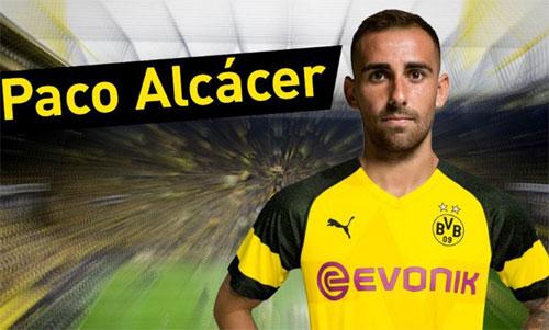 Cựu tuyển thủ Tây Ban Nha, Paco Alcacer sẽ chơi tại Bundesliga mùa này.