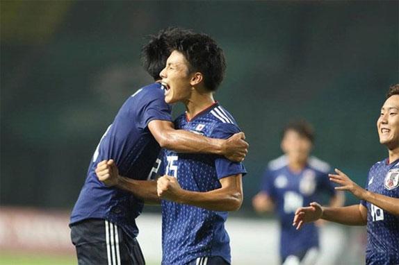 Nỗ lực ép sân của Nhật Bản được đền đáp khi gần hết trận.
