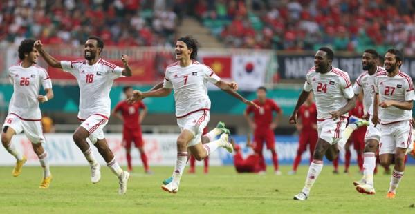 UAE thắng Việt Nam 4-3 trong loạt sút luân lưu sau khi hòa 1-1 trong 90 phút.Ảnh: Đức Đồng.