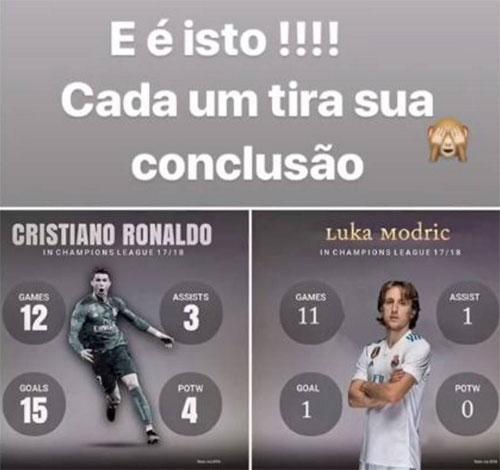 Thống kê và thông điệp dìm hàng Modric của Katia.