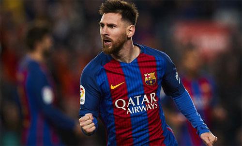 Việc giúp Barca giành cú đúp ở Tây Ban Nha không đủ để đưa Messi vào Top 3 giải UEFA. Ảnh: Reuters