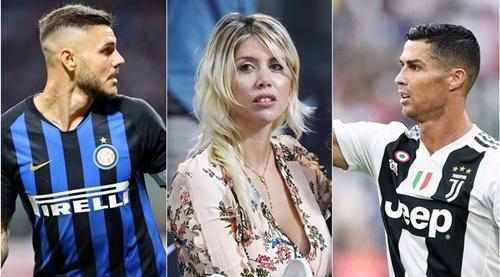 Vợ Icardi chê Ronaldo kém tài phu quân.