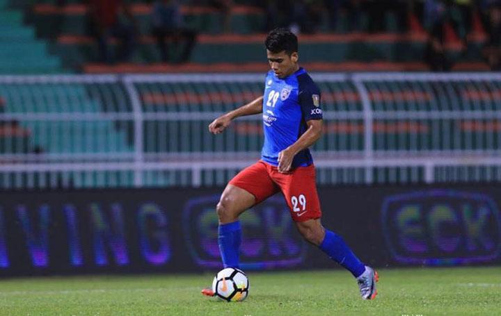 Tiền đạo Safawi Rasid giúp Malaysia có chiến thắng lịch sử trước Hàn Quốc ở vòng bảng Asiad.