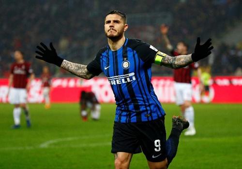 Icardi hiện giữ băng đội trưởng của Inter. Ảnh: Reuters.