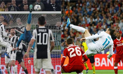 Hai pha móc bóng của Ronaldo và Bale đều lọt danh sách đề cử bàn thắng đẹp nhất năm. Ảnh: Reuters.
