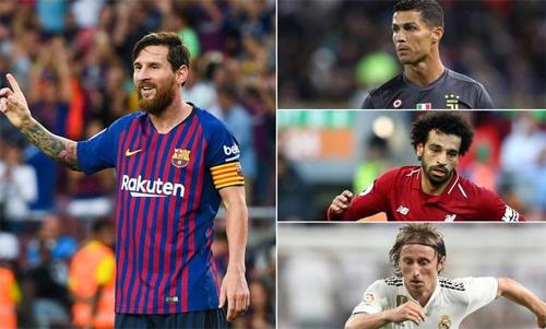 Về mặt cá nhân, Ronaldo, Salah và Modric đều không nổi trội bằng Messi.
