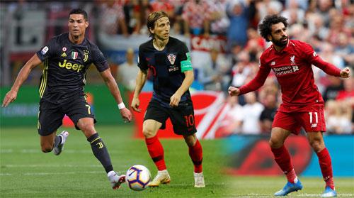 Ronaldo, Modric và Salah sẽ tiếp tục cuộc đua trong năm 2018.