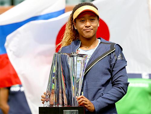 Chức vô địch WTA Indian Wells hồi đầu năm đã nâng tầm đẳng cấp của Osaka. Ảnh: Sky Sports.