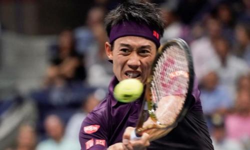 Nishikori thi đấu dưới cơ, chỉ có hai cơ hội giành break trong set 2 và đều bỏ lỡ. Ảnh: USA Today.