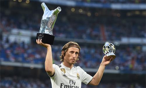 Luka Modric nổi bật trong năm 2018 với thành tíchgiúp Real vô địch Champions League và đưa Croatia vào chung kết World Cup. Ảnh: Reuters