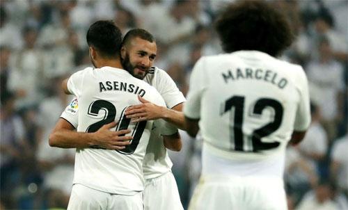 Sau sự ra đi của Ronaldo, Real sớm bù đắp bằng sự trưởng thành của Asensio và phong độ hồi sinh của Benzema. Ảnh: Reuters