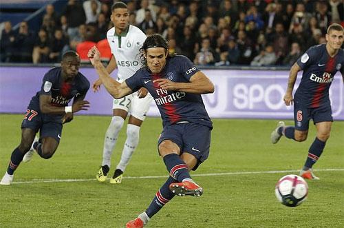 PSG quá mạnh so với St Etienne. Ảnh: Reuters