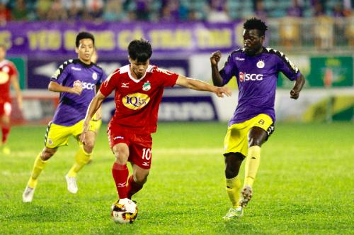 Công Phượng và các đồng đội lần thứ tư đối đầu Hà Nội ở mùa giải năm nay. Ảnh: Hùng Linh.