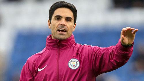 Arteta sẽ ngồi ghế chỉ đạo của Man City tối 19/9, thay Guardiola bị UEFA phạt. Ảnh: Reuters.