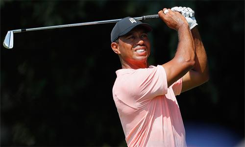 Woods khởi đầu hoàn hảo tại Tour Championship, mở ra cơ hội giành danh hiệu PGA Tour thứ 80 trong sự nghiệp. Ảnh: Golf Channel.