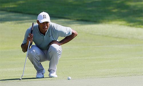Woods trở thành ứng cử viên sáng giá tại Tour Championship sau hai vòngthành công. Ảnh: Golf Channel.