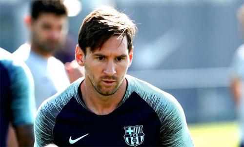 Kiểu râu mới của Messi. Ảnh: Marca
