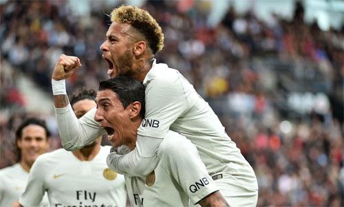 PSG quá mạnh ở Ligue 1, ngay cả khi hàng công chơi không tốt. Ảnh: Reuters