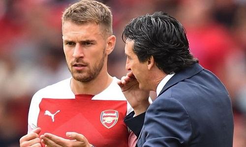 Ramsey là một trong những cầu thủ chơi cho Arsenal từ thời Arsene Wenger. Ảnh: Reuters.
