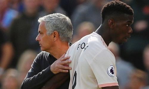 Cuộc chiến giữa Mourinho và Pogba khiến Man Utd lãnh chịu hậu quả về chuyên môn. Ảnh: Reuters.