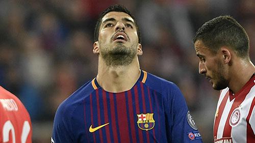 Suarez ba năm không ghi bàn trên sân khách ở Champions League