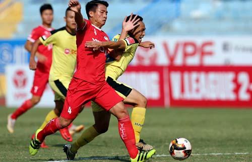 Viettel đánh bại Hà Nội B ở trận đấu cuối cùng chiều 5/10. Ảnh: Quang Minh