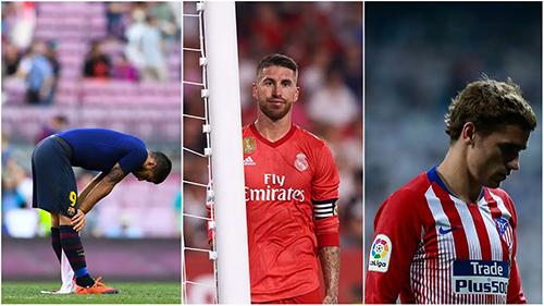 Cả ba ông lớn Atletico, Barca và Real đều chật vật trong giai đoạn đầu La Liga mùa này, gián tiếp giúp các đội chiếu dưới thu hẹp dần cách biệt về đẳng cấp, trình độ.