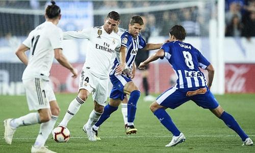 Ramos và đồng đội trải qua trận thứ tư liên tiếp không thể ghi bàn. Ảnh: EPA.