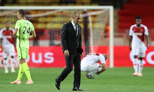 Jardim từng giúp Monaco vô địch Pháp lần đầu tiên sau 17 năm, nhưng hiện tại, ông dường như hết phép, không chặn được đà sa sút của CLB xứ Công quốc. Ảnh: AFP.