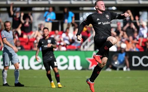 Rooney tỏa sáng với hai bàn thắng cho DC United trong trận đấu cuối tuần trước tại MLS. Ảnh: USA Today.