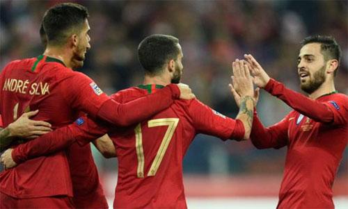 Bồ Đào Nha thể hiện đẳng cấp qua hai trận thắng Italy và Ba Lan. Ảnh: Reuters