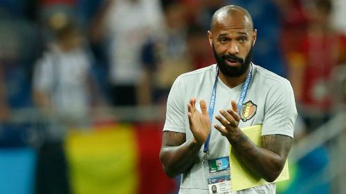Henry rời vị trí trợ lý HLV của đội tuyển Bỉ. Ông là cánh tay phải của Roberto Martinez trong chiến dịch đoạt HC đồng World Cup 2018. Ảnh: Reuters.