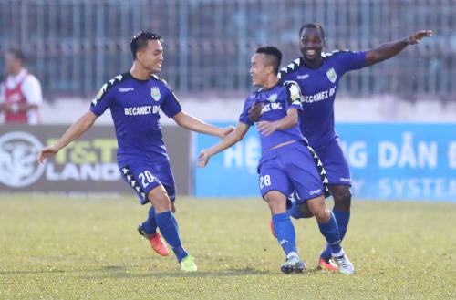 Bình Dương liên tục hạ hai đội đứng đầu V-League là Hà Nội và Bình Dương để lên ngôi ở Cup Quốc gia -Sư tử trắng 2018. Ảnh: Đức Đồng