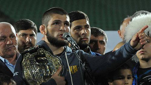 Sau McGregor, Khabib là võ sĩ được quan tâm nhất của làng UFC. Trận đấu giữa anh và McGregor được ví là lớn nhất lịch sử UFC. Ảnh: Reuters.