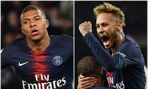 Mbappe - Neymar chói sáng nhất trời Âu