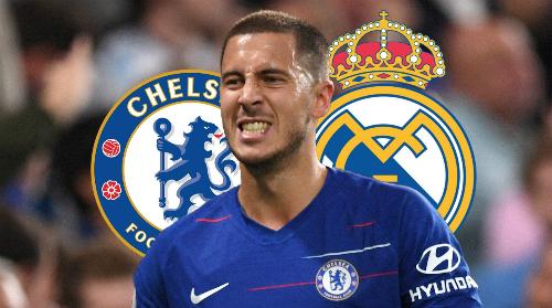Hazard hướng tới Real như điểm đến mơ ước. Ảnh:AFP.