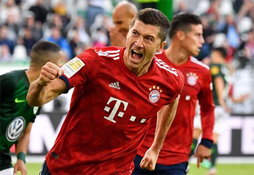 Lewandowski nổ súng trở lại, đồng thơi đem niềm vui trở lại với Bayern. Ảnh: FCB.