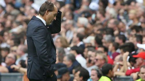 HLV Lopetegui đang trở thành mục tiêu chỉ trích cho phong độ của Real. Ảnh: Marca.